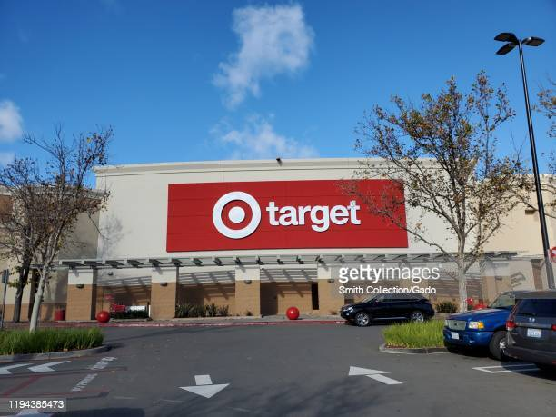 Facade with logo at Target retail store on a sunny day in San Ramon California December 15 2019