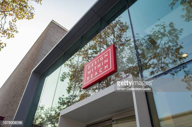 Facade with sign at Design Within Reach, a luxury furniture store providing Herman Miller and other high end office furniture to companies in the...