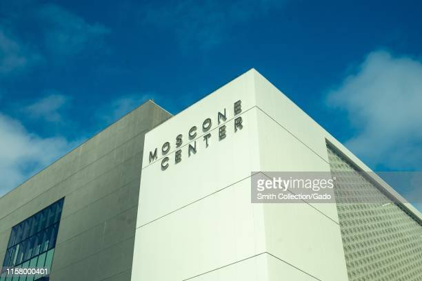 Facade with sign at the Moscone Center in the South of Market neighborhood of San Francisco, California, June 20, 2019.