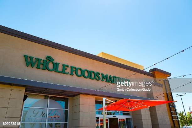 Facade with signage at Whole Foods Market grocery store in Dublin California June 16 2017 On June 16 Amazoncom announced that it would acquire the...