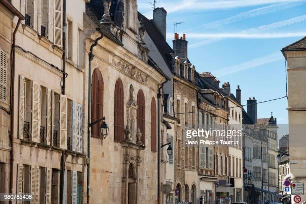 Facades in the city center of Beaune, Burgundy, Bourgogne, France