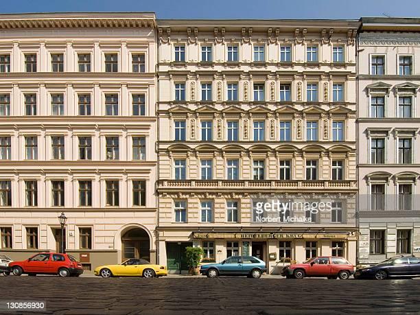 Facades of old buildings, Kreuzberg, Berlin, Germany