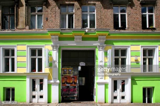 Facades Of Ornate Residential Buildings In The District Prenzaluer Berg Berlin Germany