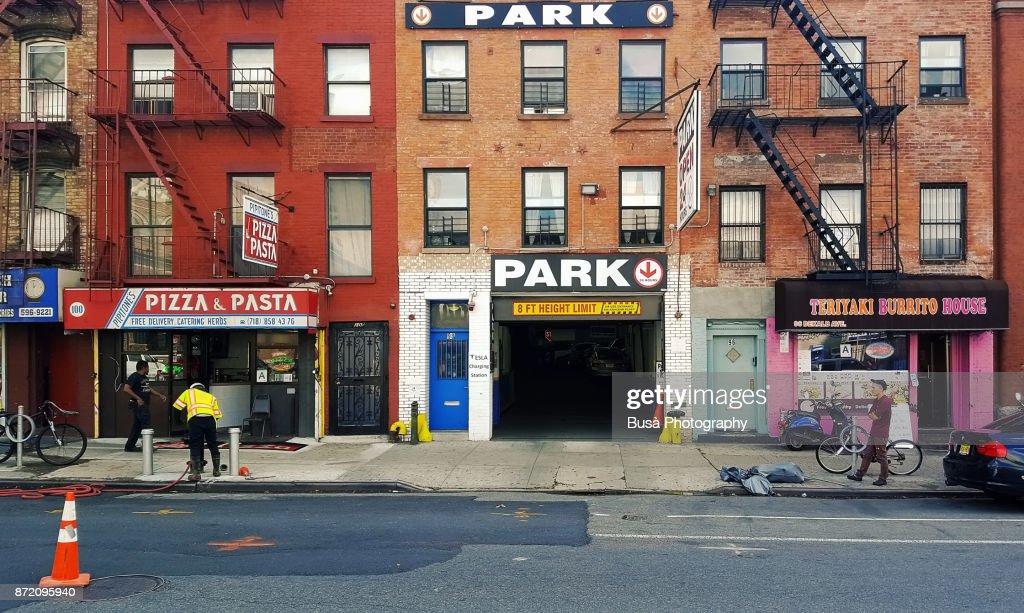 New York City Ny Usa October 12 2017 Facades Of Walk
