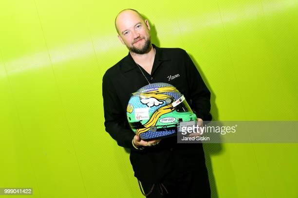 """Face, artist is seen at """"Art Goes Green"""" event at The New Museum in New York, organized by Kaspersky Lab in Collaboration with DS Virgin Racing to..."""