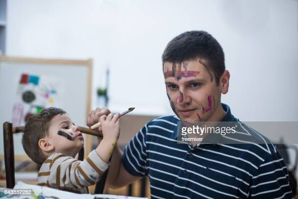 Face as painting canvas