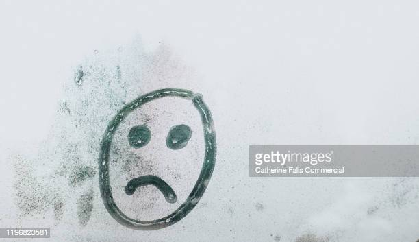 face drawn in condensation - boredom stock pictures, royalty-free photos & images