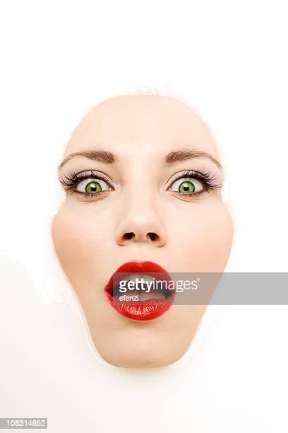 Gesicht mit Milch