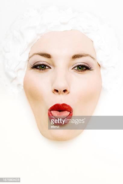 顔のミルク