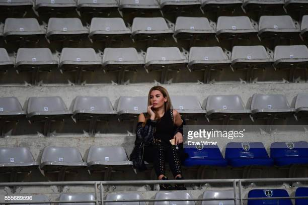 A face in the crowd during the Ligue 2 match between Paris FC and Nimes on September 29 2017 in Paris France