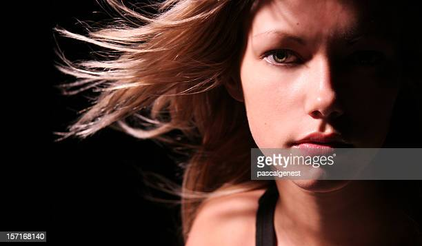 face in the dark - high contrast stock pictures, royalty-free photos & images
