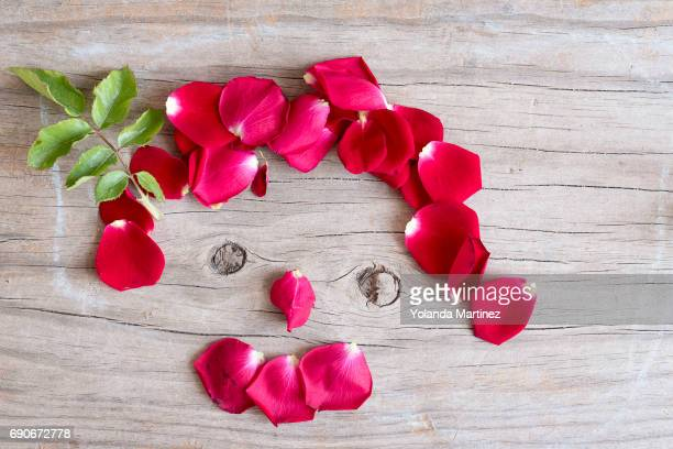 face made with rose leaves - cara humana stock pictures, royalty-free photos & images