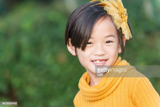Face of a beautiful Asian child