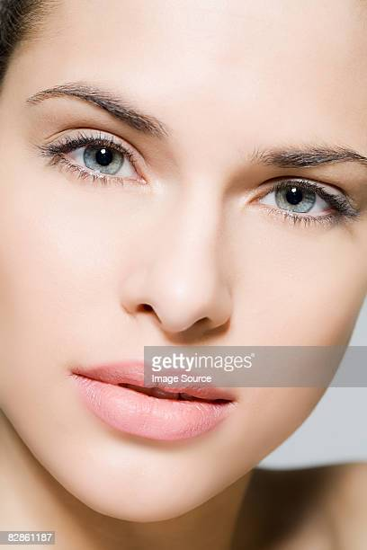 face of a beautiful woman - one young woman only stock pictures, royalty-free photos & images