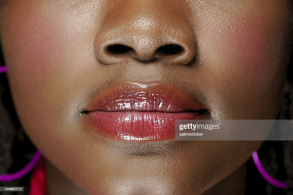 face of a black woman : Stock Photo