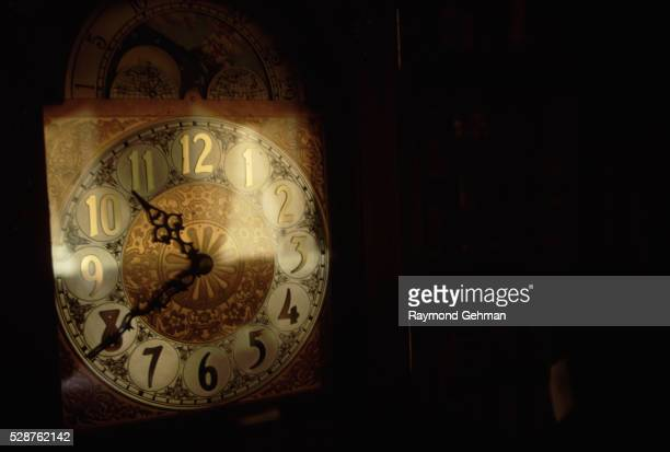Face of a Grandfather Clock