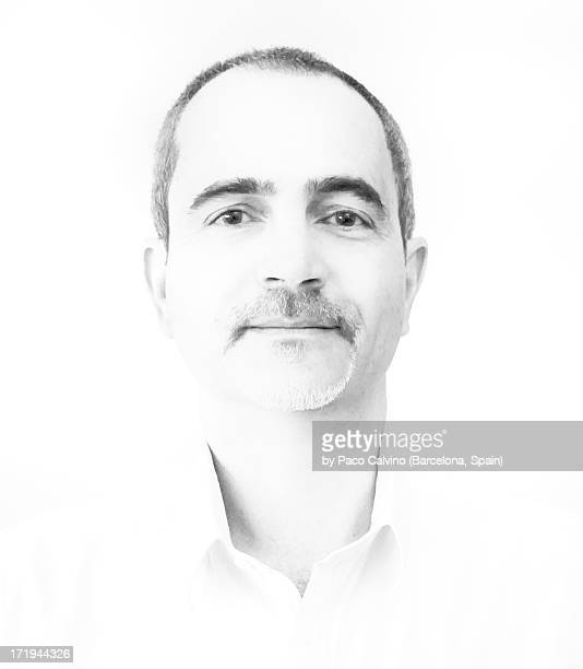 face of a man with short hair smiling. high-key - overexposed stock pictures, royalty-free photos & images