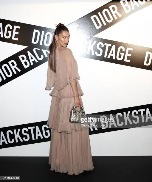 Face of Dior Makeup Bella Hadid attends the Dior Backstage launch party at EDIT on June 11 2018 in Seoul South Korea