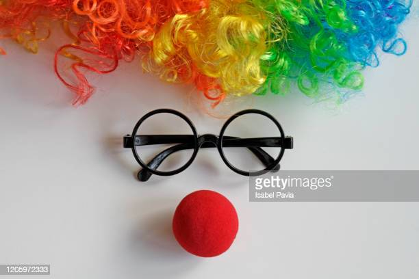 face of funny clown - comedian stock pictures, royalty-free photos & images
