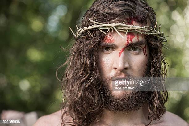 Face of Jesus Christ with Crown of Thorns