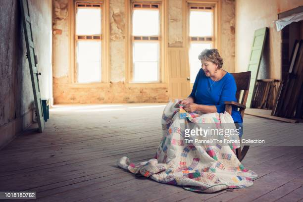 Face of Missouri Star Quilt Co Jenny Doan is photographed for Forbes Magazine on October 19 2017 in Hamilton Missouri PUBLISHED IMAGE CREDIT MUST...