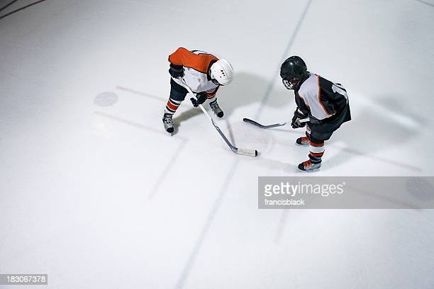 face off - face off sports play stock photos and pictures