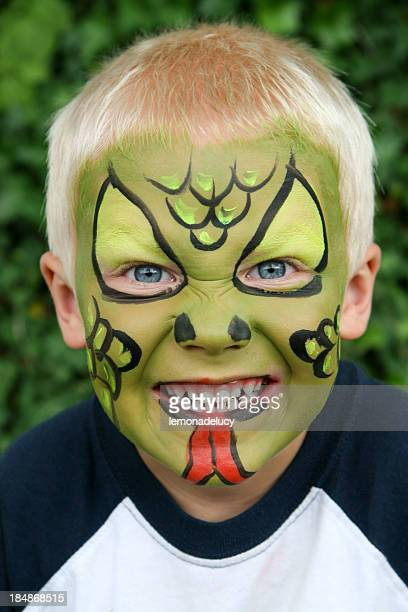 Face painted child