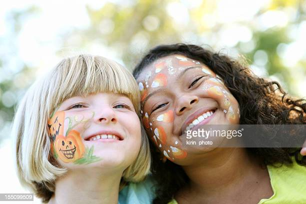 Face painted kids