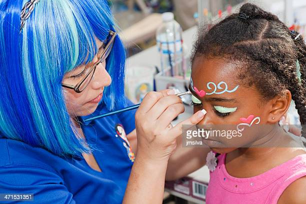 face painting - face paint stock pictures, royalty-free photos & images