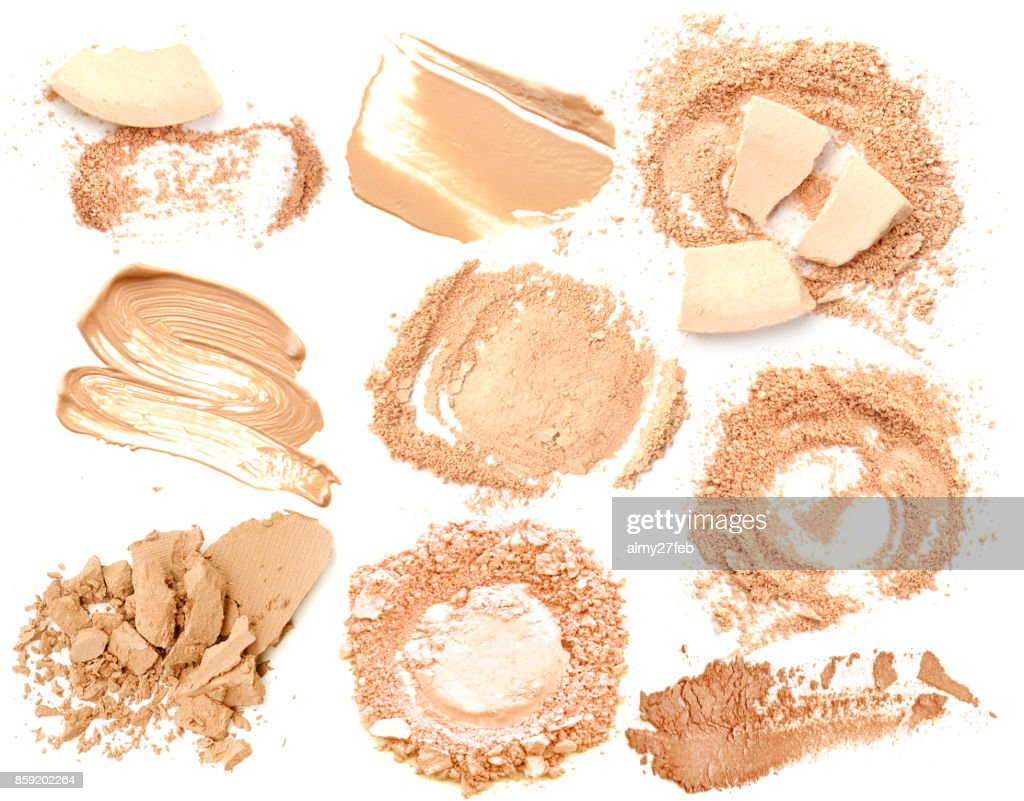フェイス パウダー コレクション化粧品メイク分離 : ストックフォト