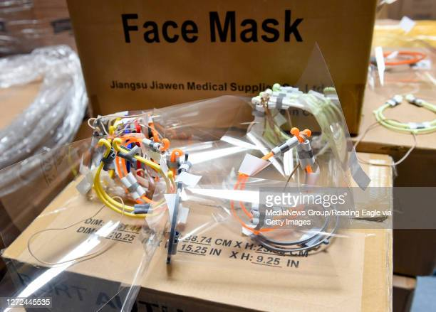 Face shields with other supplies for the Olivet Boys and Girls Club's program to provide a space for Reading School District Students to do their...