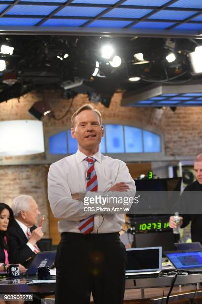 Face The Nation Host John Dickerson anchors CBS News' Campaign 2016 Election Night coverage on Nov 8 at the CBS Broadcast Center in New York City