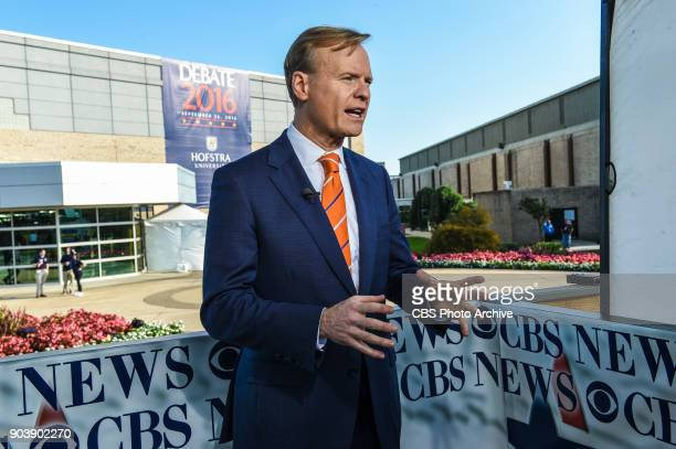 Face The Nation Host John Dickerson broadcasts live from outside Hofstra University for the first presidential debate on Sept 26 2016