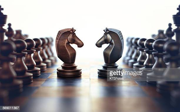 face to face - chess stock pictures, royalty-free photos & images