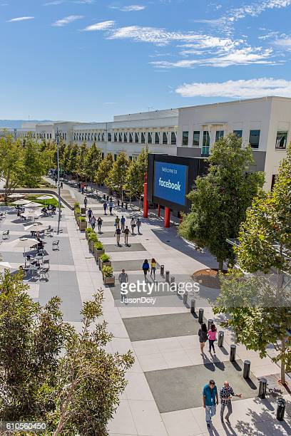 facebook campus menlo park headquarters - menlo park california stock pictures, royalty-free photos & images