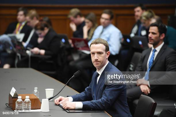 Facebook CEO Mark Zuckerberg appears for a hearing with the House Energy and Commerce Committee at the Rayburn House Office Building on Wednesday...