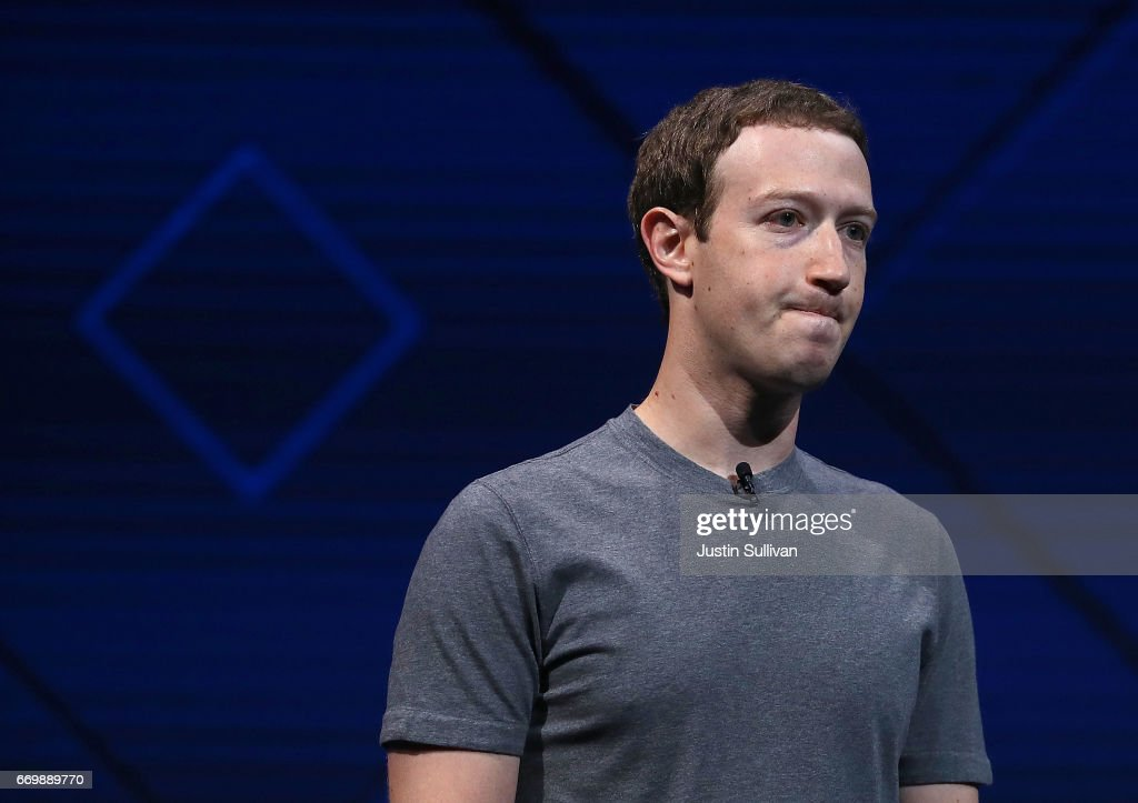 Mark Zuckerberg Delivers Keynote Address At Facebook F8 Conference : News Photo