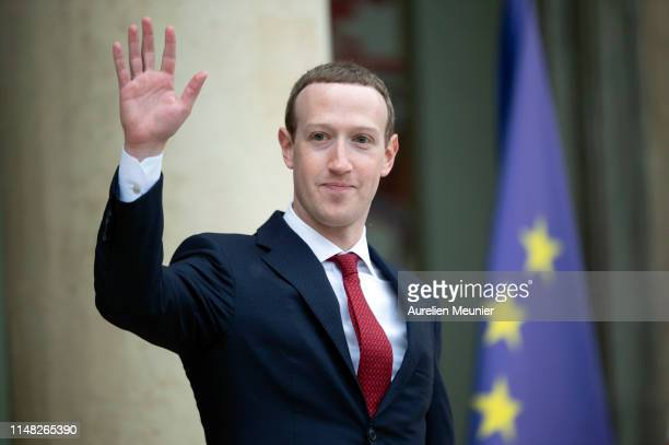 Facebook CEO Mark Zuckerberg leaves the Elysee Palace after a meeting with French President Emmanuel Macron on May 10, 2019 in Paris, France....