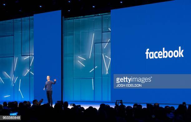 Facebook CEO Mark Zuckerberg speaks during the annual F8 summit at the San Jose McEnery Convention Center in San Jose California on May 1 2018