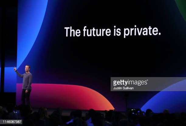 Facebook CEO Mark Zuckerberg speaks during the F8 Facebook Developers conference on April 30 2019 in San Jose California Facebook CEO Mark Zuckerberg...