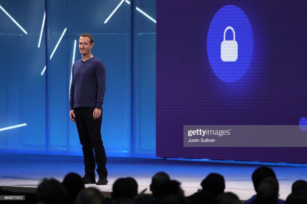 Mark Zuckerberg Addresses F8 Facebook Developer Conference : News Photo