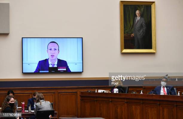 Facebook CEO Mark Zuckerberg testifies before the House Judiciary Subcommittee on Antitrust, Commercial and Administrative Law on Online Platforms...