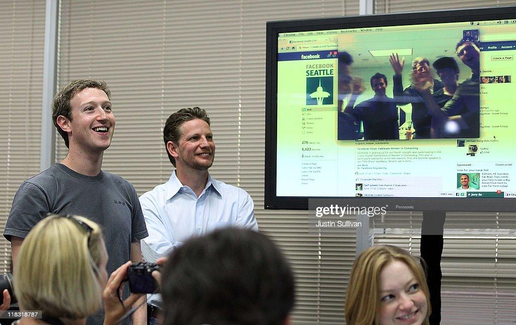 Mark Zuckerberg Announces Facebook Video Calling : News Photo