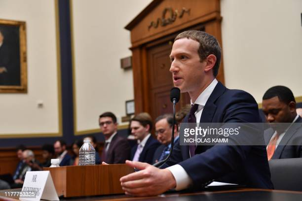 "Facebook Chairman and CEO Mark Zuckerberg testifies before the House Financial Services Committee on ""An Examination of Facebook and Its Impact on..."