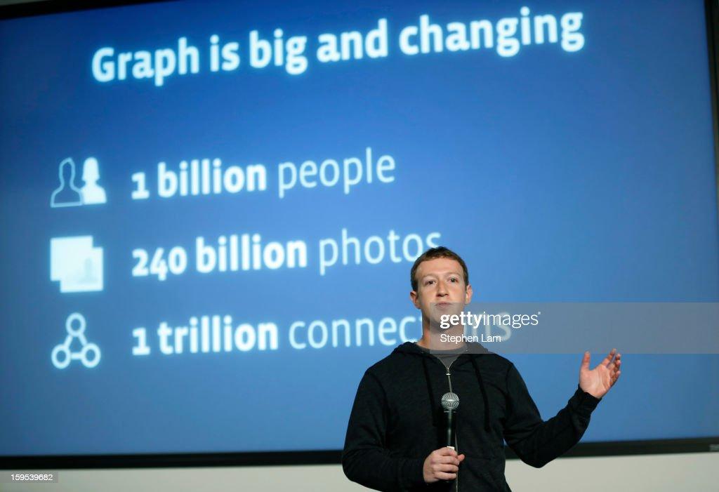 Facebook Inc Announces Graph Search : News Photo