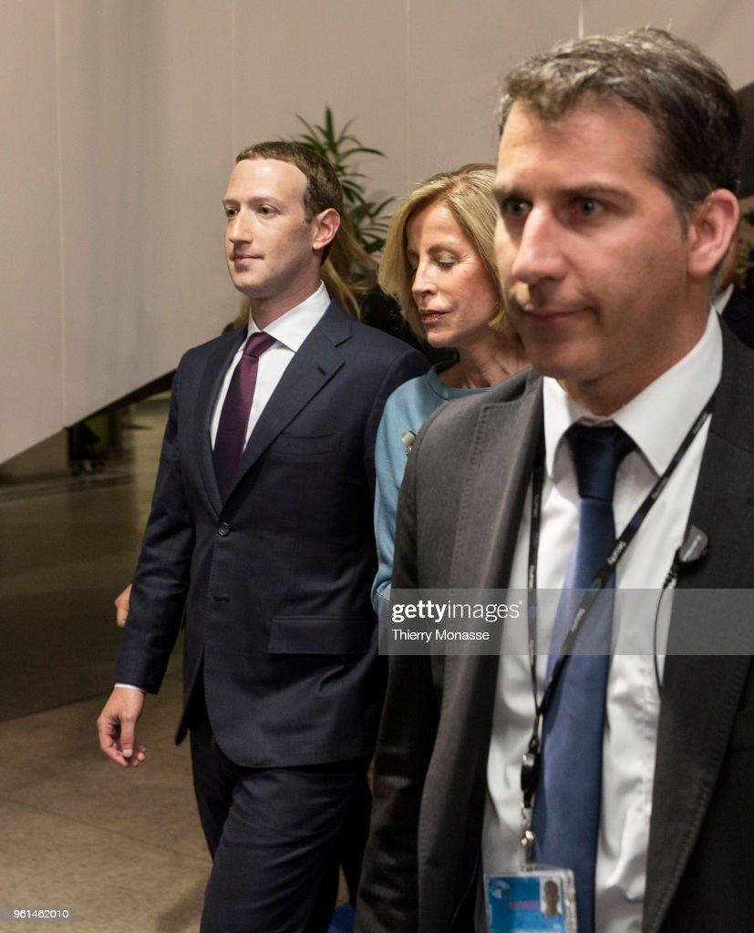 Facebook President Mark Zuckerberg visits the EU Parliament : Nachrichtenfoto