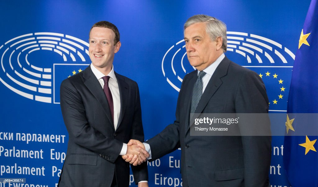 Facebook Chief Executive Officer Mark Zuckerberg Visits EU Parliament
