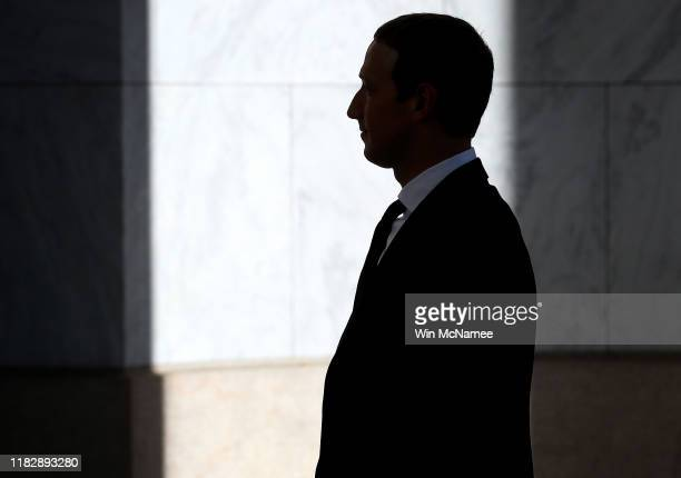 Facebook co-founder and CEO Mark Zuckerberg arrives for testimony before the House Financial Services Committee in the Rayburn House Office Building...