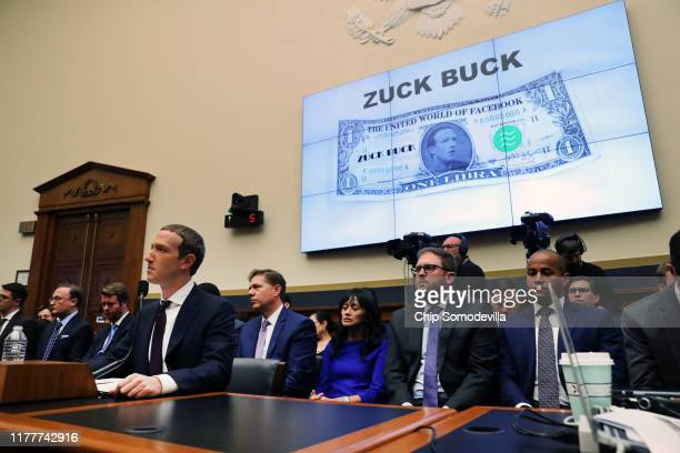 Facebook cofounder and CEO Mark Zuckerberg testifies before the House Financial Services Committee in the Rayburn House Office Building on Capitol...
