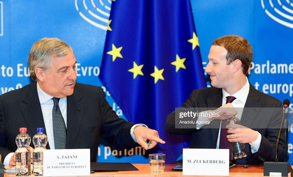 Mark Zuckerberg testifies at European Parliament : News Photo